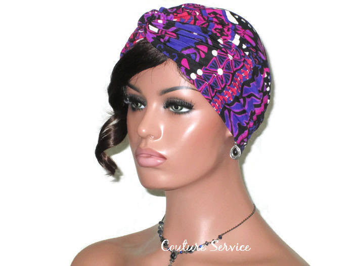Handmade Purple Twist Turban, Abstract - Couture Service  - 1
