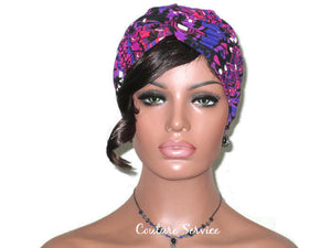 Handmade Purple Twist Turban, Abstract - Couture Service  - 2