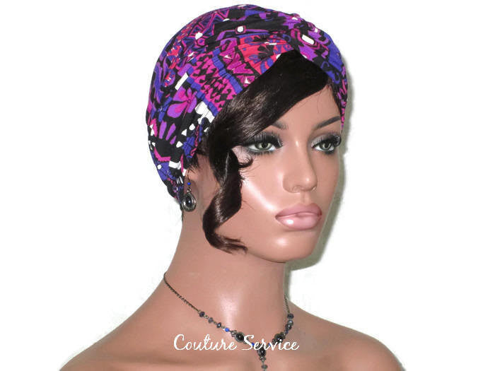 Handmade Purple Twist Turban, Abstract - Couture Service  - 3