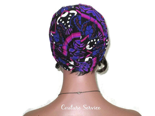 Handmade Purple Twist Turban, Abstract - Couture Service  - 4