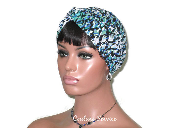 Handmade Green Twist Turban, Abstract - Couture Service  - 1