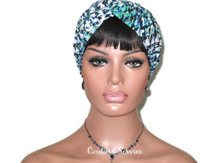 Handmade Green Twist Turban, Abstract - Couture Service  - 2