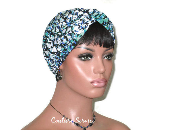 Handmade Green Twist Turban, Abstract - Couture Service  - 3