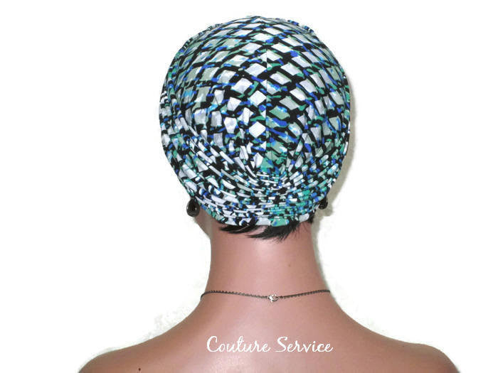 Handmade Green Twist Turban, Abstract - Couture Service  - 4