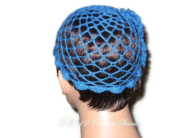 Handmade Scalloped Edge Lace Demi Cloche, Blue - Couture Service  - 4