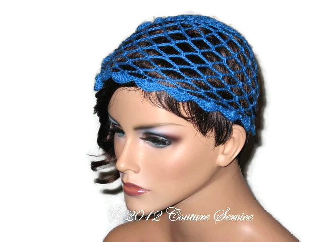 Handmade Scalloped Edge Lace Demi Cloche, Blue - Couture Service  - 3