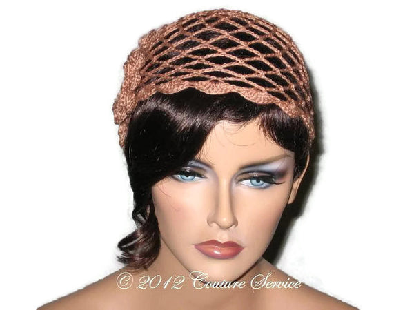 Handmade Scalloped Edge Lace Demi Cloche, Copper - Couture Service  - 1