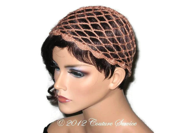 Handmade Scalloped Edge Lace Demi Cloche, Copper - Couture Service  - 4