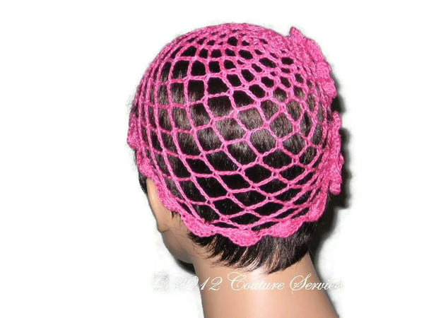 Handmade Scalloped Edge Lace Demi Cloche, Pink - Couture Service  - 3