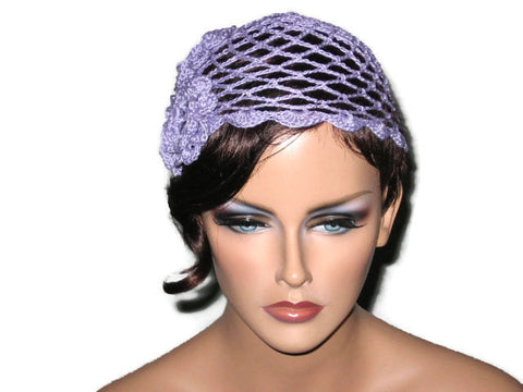 Handmade Scalloped Edge Lace Demi Cloche, Lavender - Couture Service  - 1