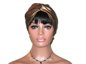 Handmade Leather Turban, Bronze Metallic - Couture Service  - 2