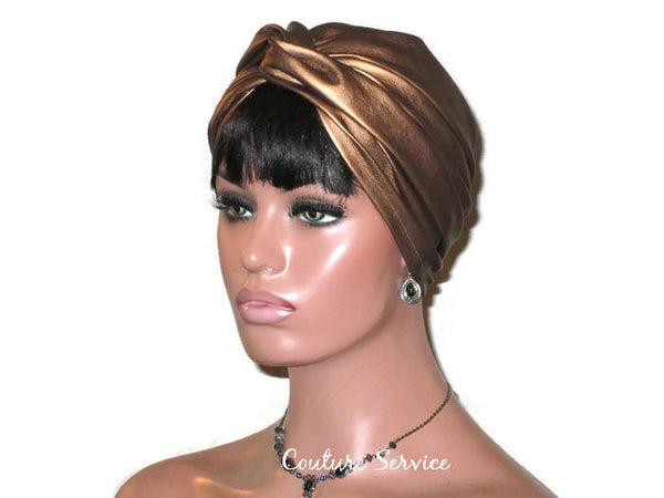 Handmade Leather Turban, Bronze Metallic - Couture Service  - 4