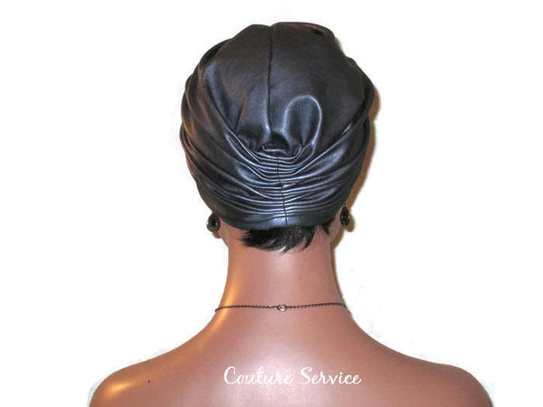 Handmade Leather Turban, Grey Platinum - Couture Service  - 4