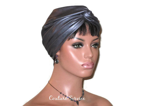 Handmade Leather Turban, Grey Platinum - Couture Service  - 3
