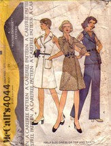 Vintage McCalls 4044, Wrap Dress, Top, Pants,  Half Size 16 1/2 - Couture Service  - 1