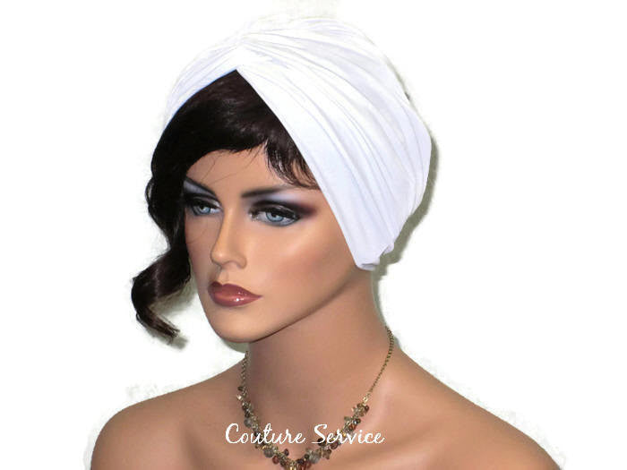 Handmade Lined Ivory Combination Twist Turban - Couture Service  - 1
