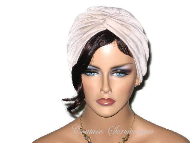 Handmade Tan Twist Turban, Crinkled Rayon - Couture Service  - 1