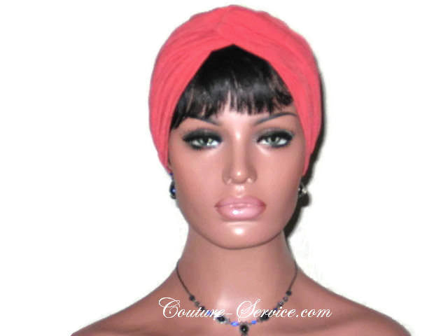 Handmade Orange Twist Turban, Crepe Textured - Couture Service  - 1