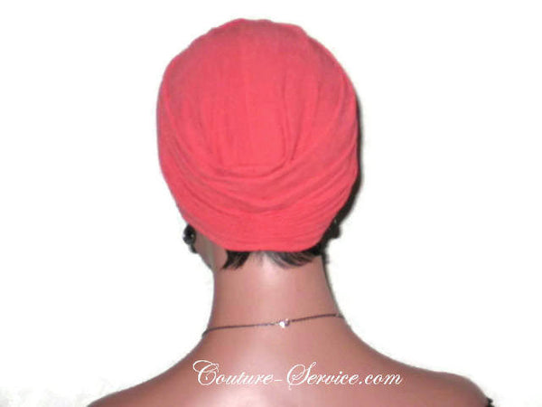 Handmade Orange Twist Turban, Crepe Textured - Couture Service  - 3