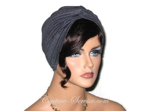 Handmade Grey Charcoal Rayon Twist Turban - Couture Service  - 2
