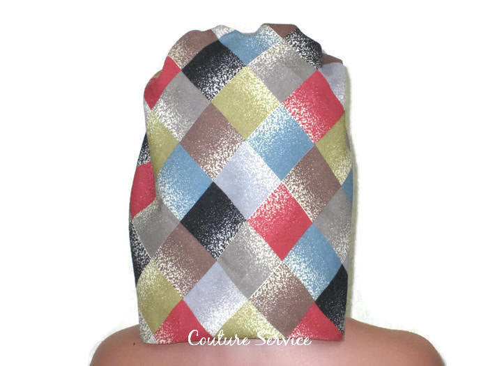 Handmade Lined Scarf Hat, Plaid - Couture Service  - 4