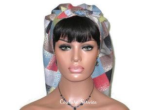 Handmade Lined Scarf Hat, Plaid - Couture Service  - 2