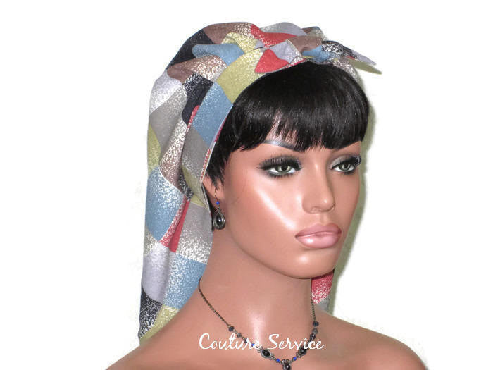 Handmade Lined Scarf Hat, Plaid - Couture Service  - 3
