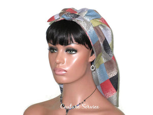 Handmade Lined Scarf Hat, Plaid - Couture Service  - 1