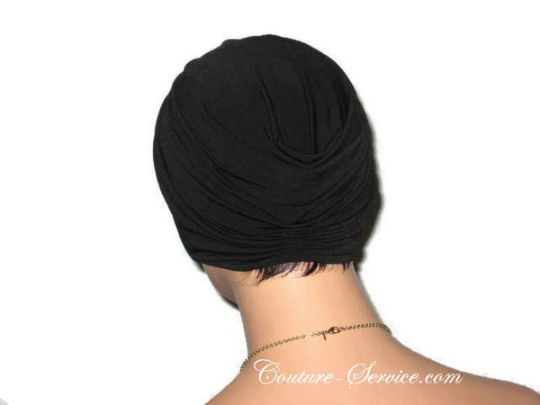 Handmade Black Twist Turban, Deep Black - Couture Service  - 3