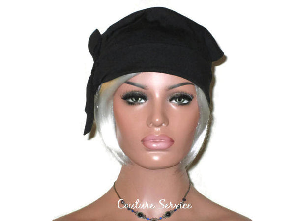 Handmade Black Turban Hat, Self Lined, Rayon, Side Looped - Couture Service  - 2