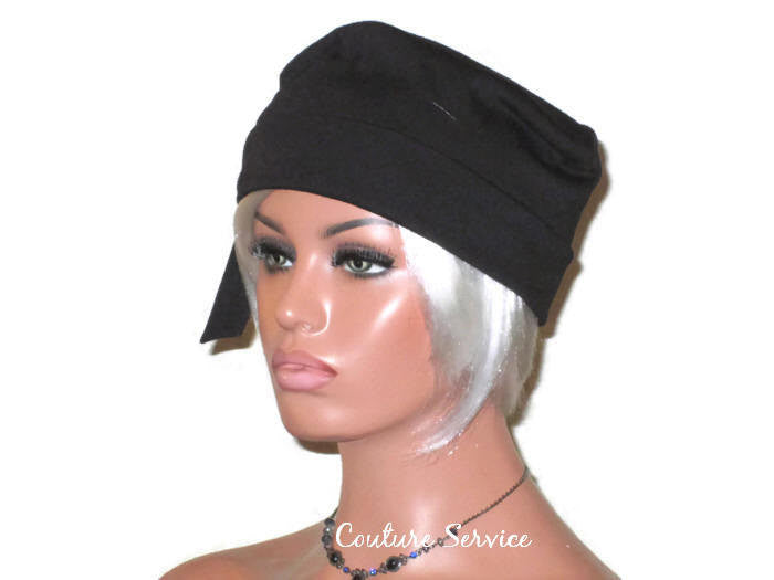 Handmade Black Turban Hat, Self Lined, Rayon, Side Looped - Couture Service  - 3