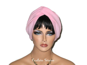 Handmade Pink Twist Turban, Cotton Gauze - Couture Service  - 2