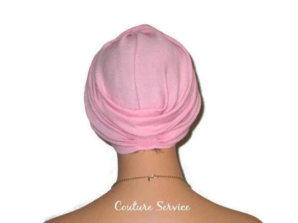 Handmade Pink Twist Turban, Cotton Gauze - Couture Service  - 4