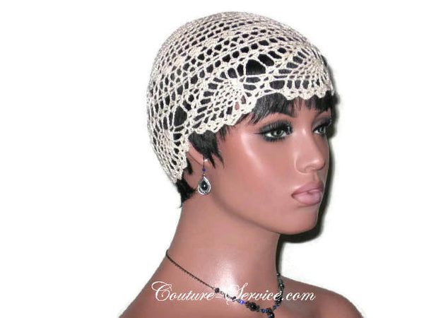Handmade Natural Pineapple Lace Cloche - Couture Service  - 3