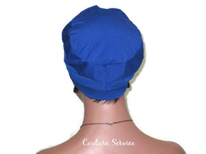 Handmade Blue Cap Turban, Royal - Couture Service  - 4
