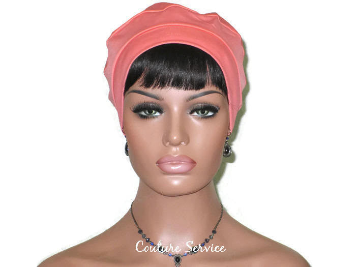 Handmade Coral Cap Turban - Couture Service  - 2