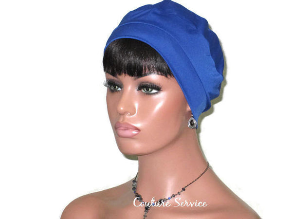 Handmade Blue Cap Turban, Royal - Couture Service  - 1
