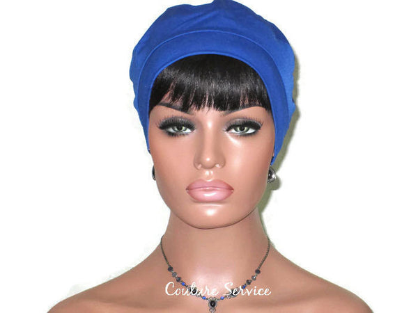 Handmade Blue Cap Turban, Royal - Couture Service  - 2