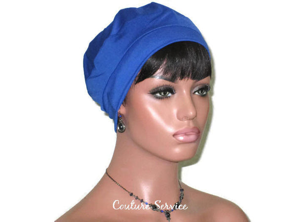 Handmade Blue Cap Turban, Royal - Couture Service  - 3