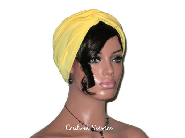 Handmade Yellow Twist Turban, Cotton Gauze - Couture Service  - 3