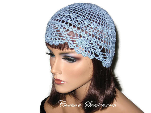 Handmade Blue Pineapple Lace Cloche, Delft - Couture Service  - 2