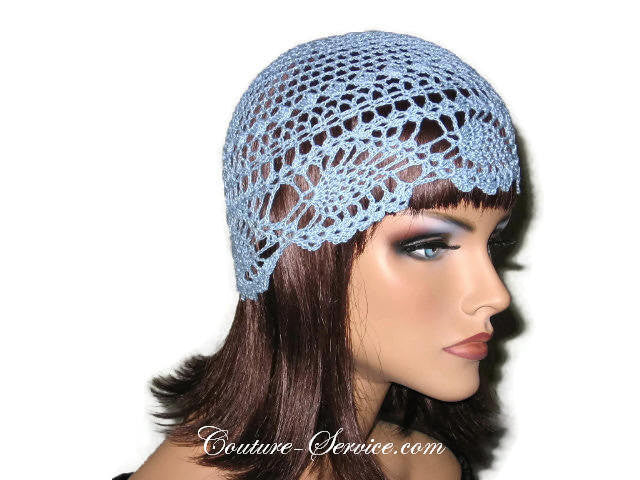 Handmade Blue Pineapple Lace Cloche, Delft - Couture Service  - 4