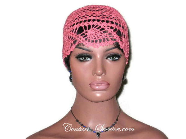 Handmade Coral Pineapple Lace Cloche - Couture Service  - 2