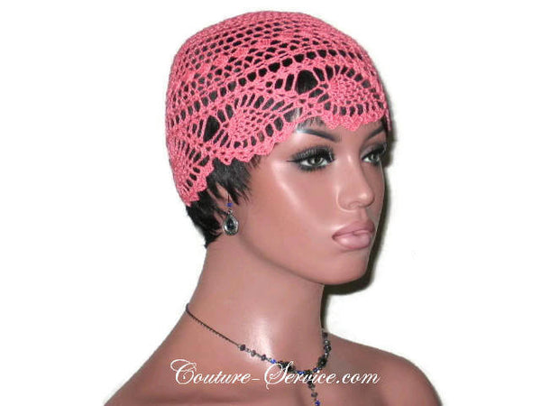 Handmade Coral Pineapple Lace Cloche - Couture Service  - 3