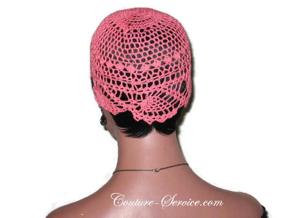Handmade Coral Pineapple Lace Cloche - Couture Service  - 4