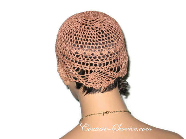 Handmade Copper Pineapple Lace Cloche - Couture Service  - 3