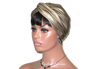Handmade Leather Turban, Gold Metallic - Couture Service  - 1