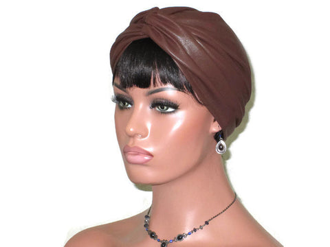Handmade Leather Turban, Brown - Couture Service  - 1