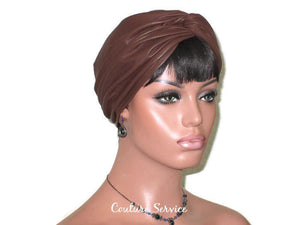 Handmade Leather Turban, Brown - Couture Service  - 3