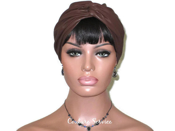 Handmade Leather Turban, Brown - Couture Service  - 2